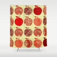 Autumn Apples Shower Curtain