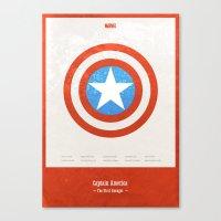 Captain America - minimal poster Canvas Print