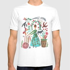 Autumn Love SMALL White Mens Fitted Tee