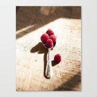 Raspberry Spoonfull  Canvas Print