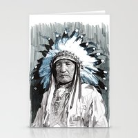 Native American Chief Stationery Cards