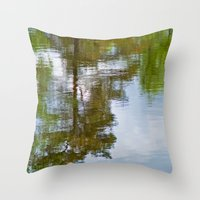 Trees in the water Throw Pillow