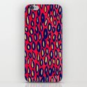 Mixed media and digital blue and pink pattern iPhone & iPod Skin