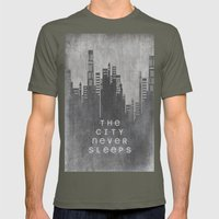The City Never Sleeps Mens Fitted Tee Lieutenant SMALL