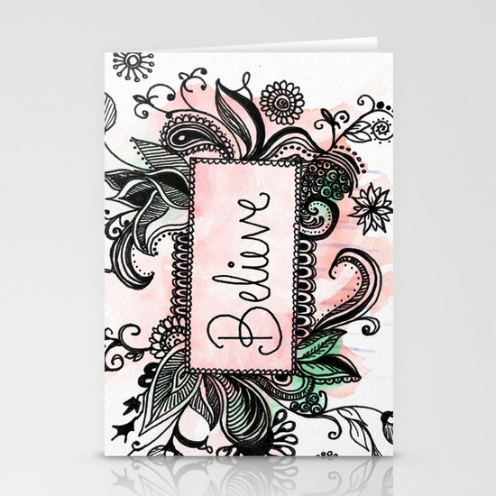 Believe Stationery Card
