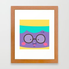 Purple Smile Framed Art Print