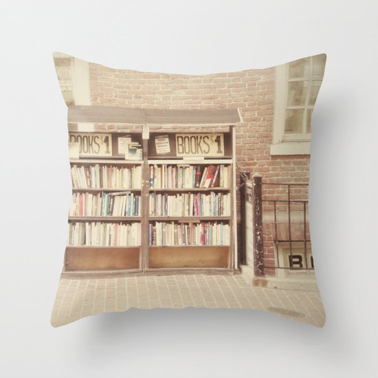 Dollar Books Throw Pillow