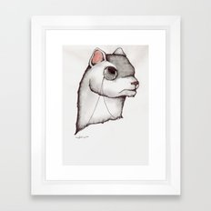 Don't try to weasel your way out. Framed Art Print