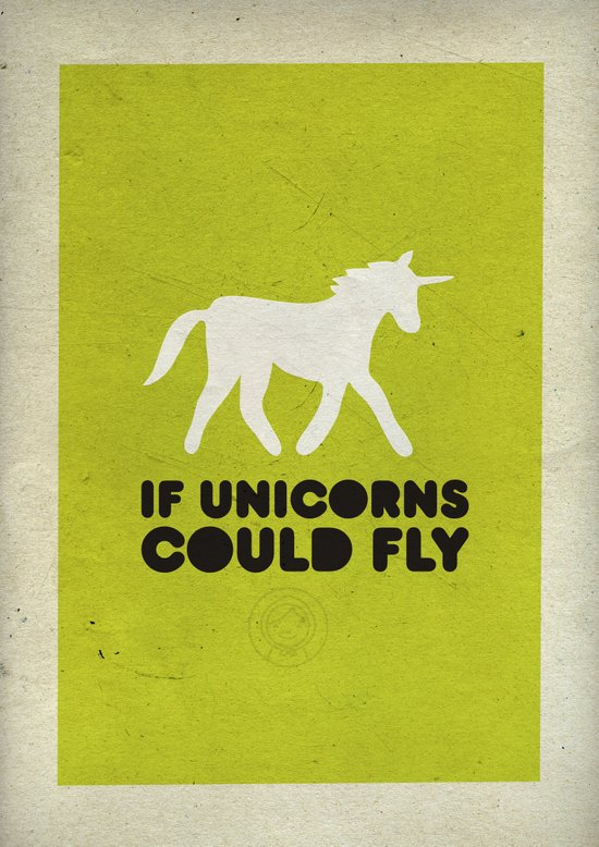 If unicorns could fly. Art Print