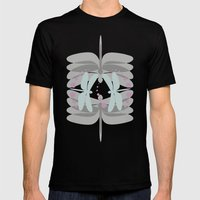 dragonfly pattern 5 Mens Fitted Tee Black SMALL