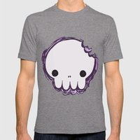 Skull Mens Fitted Tee Tri-Grey SMALL