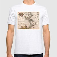 1658 Visscher Map Of Nor… Mens Fitted Tee Ash Grey SMALL