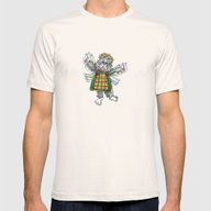 Angel Kitty Mens Fitted Tee Natural SMALL