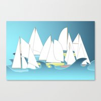 Segelboote - Sailboats Canvas Print