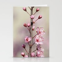 cherry blossom Stationery Cards featuring Cherry Blossom by Zen and Chic