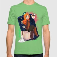 Doctor Who - Amy Pond Mens Fitted Tee Grass SMALL