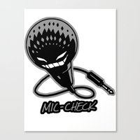 Mic-Check Canvas Print