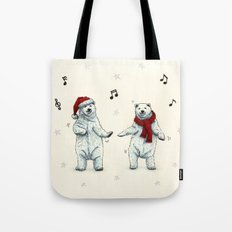 The polar bears wish you a Merry Christmas Tote Bag