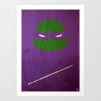 TMNT Donnie poster Art Print