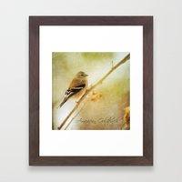 American Gold Finch Framed Art Print