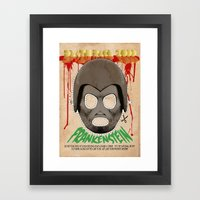 DEATH RACE 2000 - Frankenstein Mask Framed Art Print