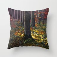 Deep In The Forest There… Throw Pillow