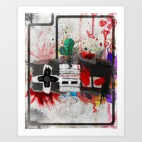 RETRO NES Art Print