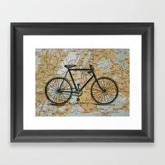 Bike Ride in New York City Framed Art Print