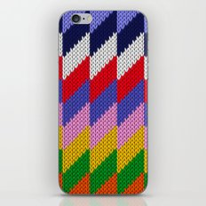 Knitted colorful pattern iPhone & iPod Skin