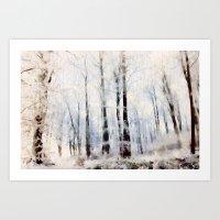 Winter Landscape Aquarel… Art Print