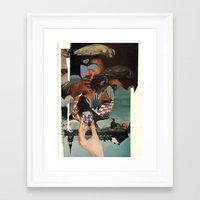 O)C Framed Art Print
