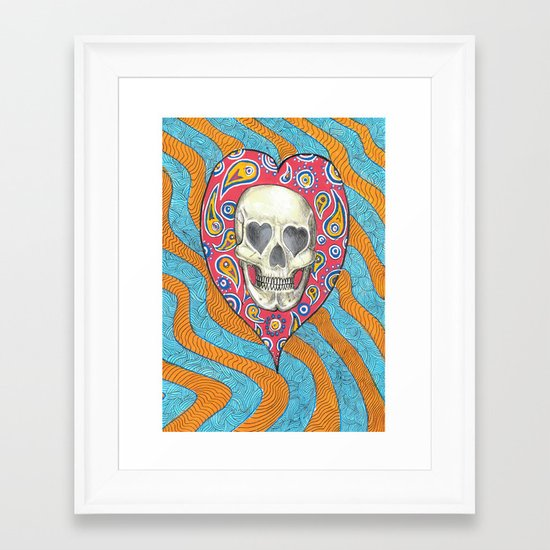 Skulladelia Framed Art Print