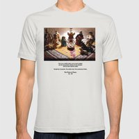 Unto us a child is born... Mens Fitted Tee Silver SMALL