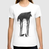 wolf T-shirts featuring Standing Tall by DB Art