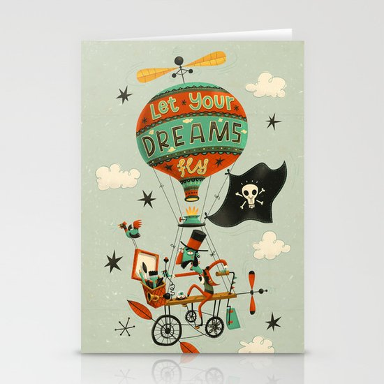 Make Your Dreams Fly Stationery Card