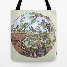 Rabbiting On Tote Bag