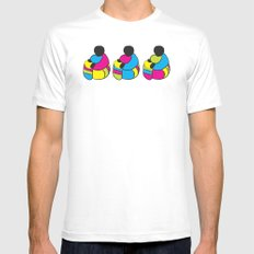 3 Drummer Men Mens Fitted Tee White SMALL
