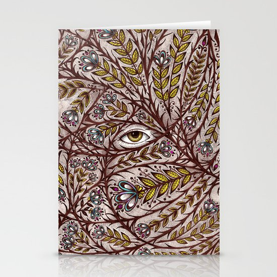 Golden Eye Stationery Card