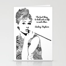 Audrey Hepburn - the best thing Stationery Cards