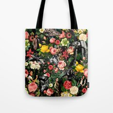 1977-2016 Starwars and Floral Pattern  Tote Bag