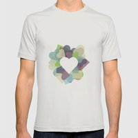 HEART HEART Mens Fitted Tee Silver SMALL