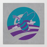 Obama vs Hornets - Welcome To Buzz City! Canvas Print