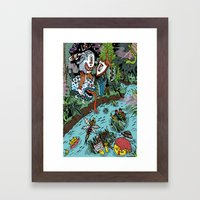 Some of us were born to explore!  Framed Art Print