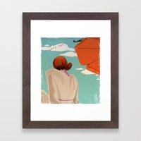 Skywriter Framed Art Print