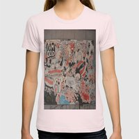 Urban art Womens Fitted Tee Light Pink SMALL