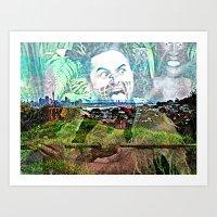 New Zealand. Art Print