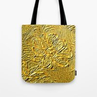 Embossed Floral Tote Bag
