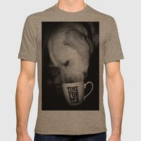 TeaLeaf Mens Fitted Tee Tri-Coffee SMALL