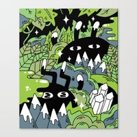Little Lurkers Canvas Print