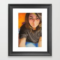 Morning Portrait (Pika) Framed Art Print